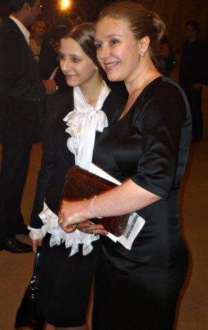 Лиза с мамой