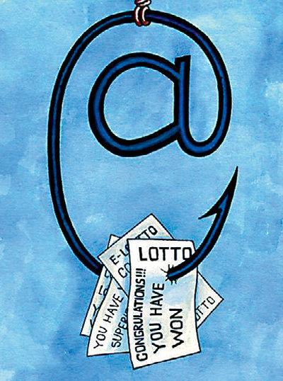 Письма с сообщениями о выигрыше - наживка для простачков (надпись на картинке: « Поздравляем!!! Вы победили»)