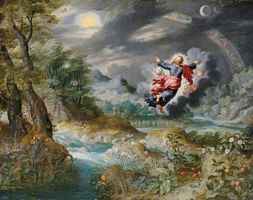 Ян Брейгель Младший. Бог создает Солнце, Луну и звезды