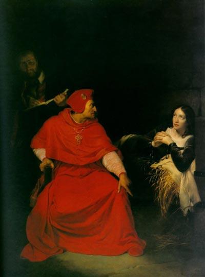 Допрос Жанны кардиналом Винчестера (Поль Деларош, 1824 год). wikimedia.org