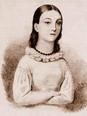 Молодая Надежда Дурова (Рисунок неизвестного автора из ее автобиографических «Записок»)