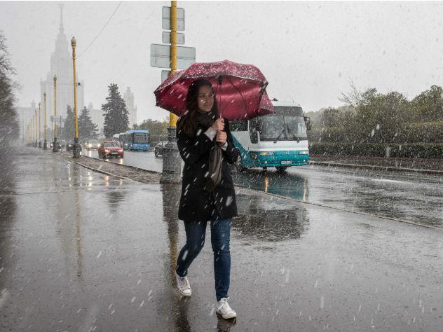 В столицеРФ выпал 1-ый снег