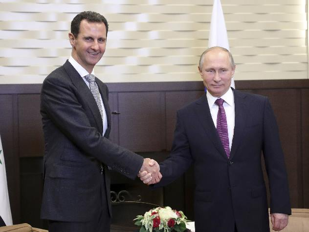 Песков: встреча Владимира Путина иАсада вСочи продлилась неменее четырех часов