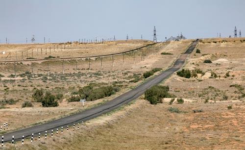 Дорога к космодрому Байконур. Источник: wikimedia.org