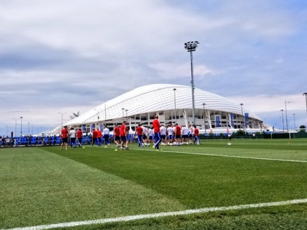 Первая тренировка сборной России в Сочи попала в соцсети