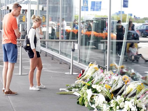 Мемориал рейса MH17 в аэропорту Амстердама.