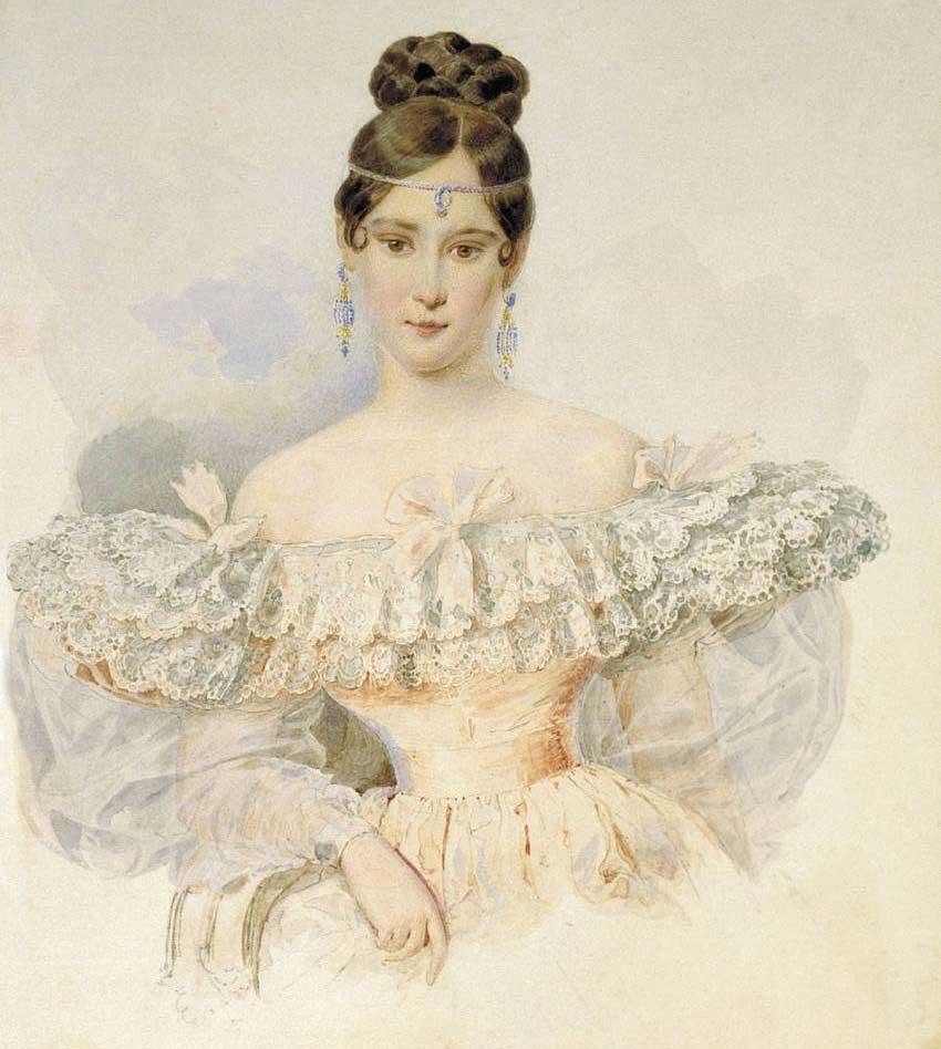 А. Брюллов. Портрет Н.Н. Пушкиной. 1831-1832 гг.
