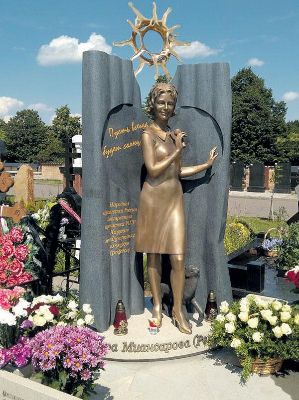 Надгробие звезды на Троекуровском кладбище обошлось в 2,5 млн руб.
