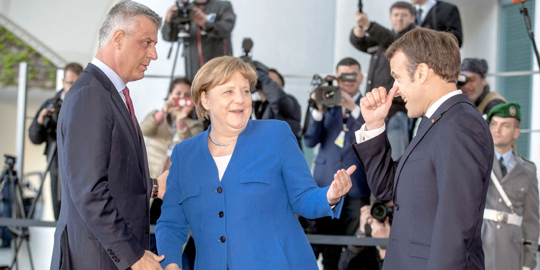 Ангела Меркель и Эммануэль Макрон благодарны Хашиму Тачи за то, что поставлял донорские почки для стариков Франции и Германии. Фото: Globallookpress.com